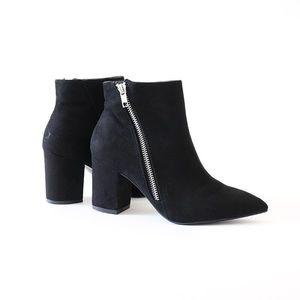 chiko-02 black vegan suede ankle boots booties